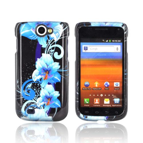 Samsung Exhibit 2 4G Hard Case - Blue Flowers on Black