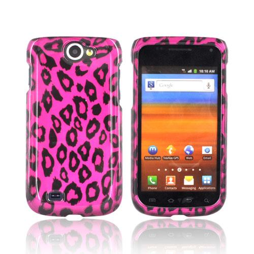 Samsung Exhibit 2 4G Hard Case - Hot Pink/ Black Leopard