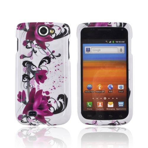 Samsung Exhibit 2 4G Hard Case - Pink Flowers on White