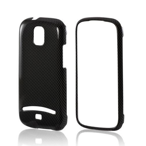Black/ Gray Carbon Fiber Design Hard Case for Samsung Galaxy S Relay 4G
