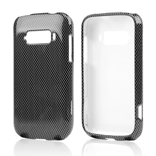 Gray/ Black Carbon Fiber Design Hard Case for ZTE Imperial
