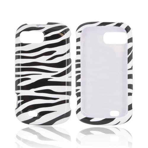 ZTE Fury N850 Hard Case - Black/ White Zebra