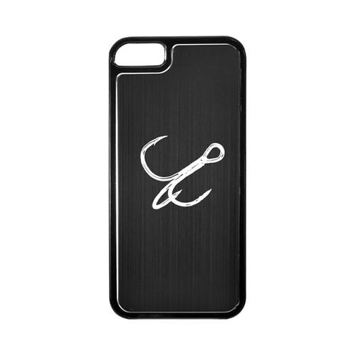Apple iPhone 5/5S Hard Back Cover w/ Black Aluminum Back - Fish Hook
