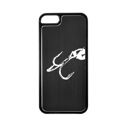 Apple iPhone 5/5S Hard Back Cover w/ Black Aluminum Back - Fish Hook 2.0