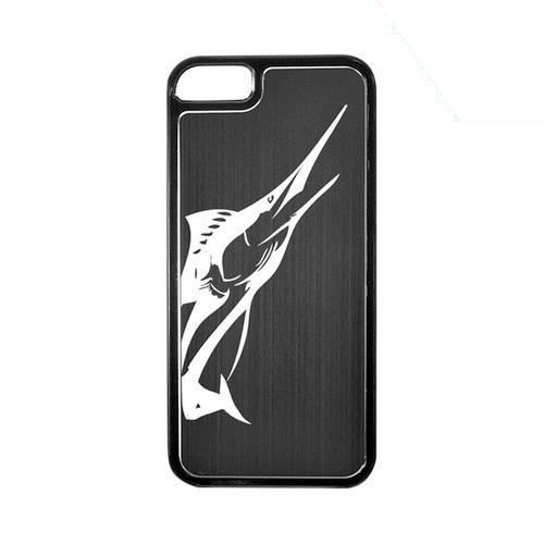 Apple iPhone 5/5S Hard Back Cover w/ Black Aluminum Back - Marlin
