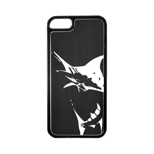 Apple iPhone 5/5S Hard Back Cover w/ Black Aluminum Back - Marlin 2.0