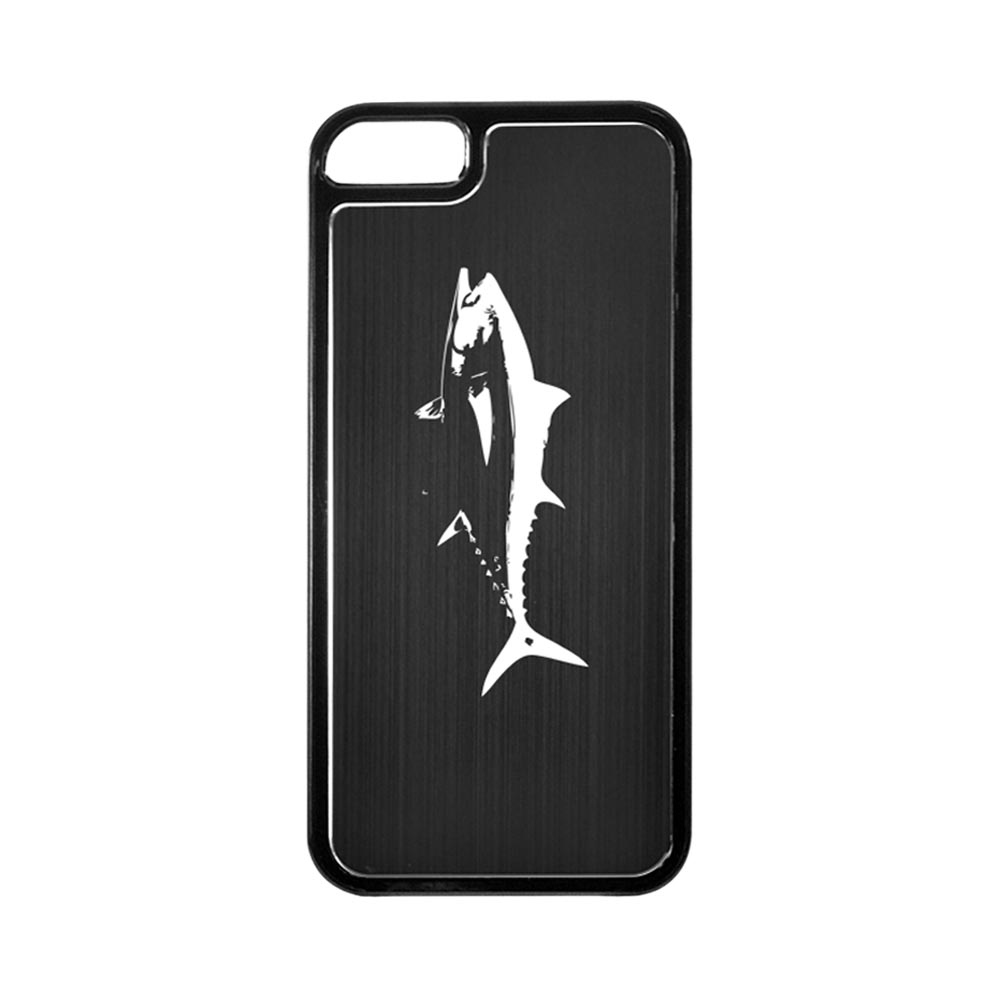 Apple iPhone 5/5S Hard Back Cover w/ Black Aluminum Back - Tuna