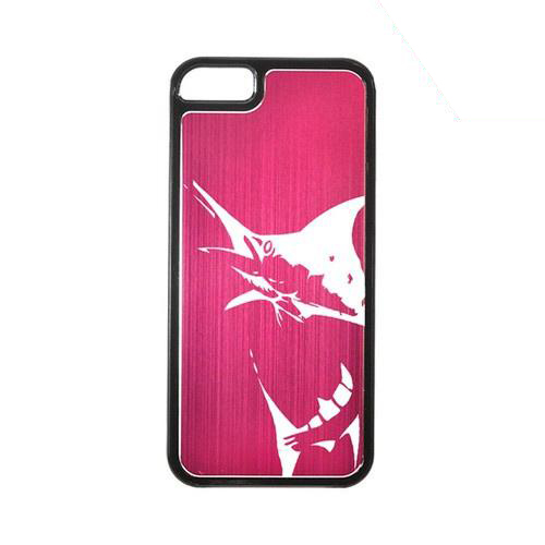 Apple iPhone 5/5S Hard Back Cover w/ Hot Pink Aluminum Back - Marlin 2.0