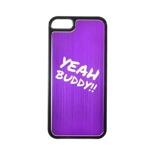 Apple iPhone 5/5S Hard Back Cover w/ Purple Aluminum Back - Yeah Buddy!