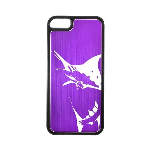 Apple iPhone 5/5S Hard Back Cover w/ Purple Aluminum Back - Marlin 2.0