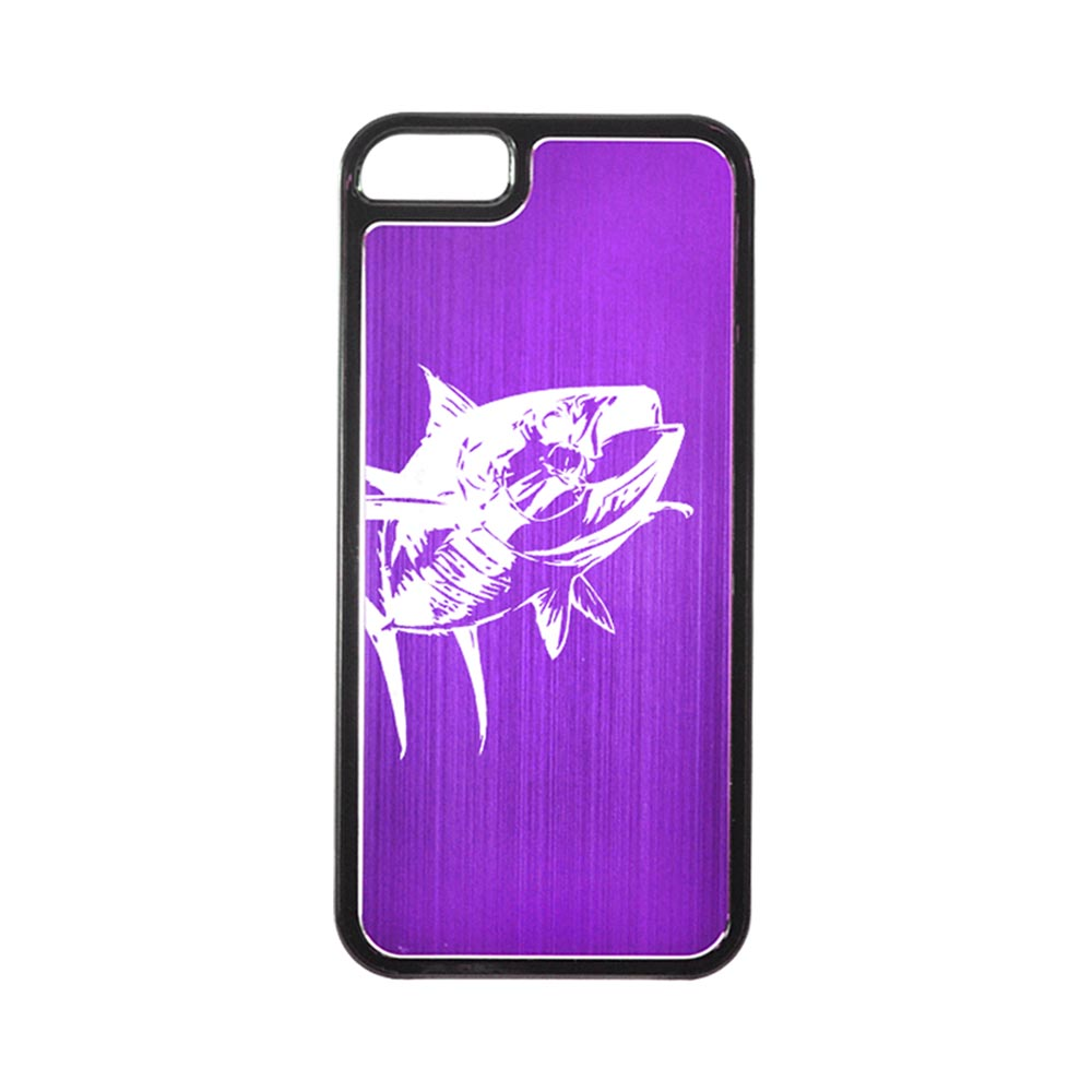Apple iPhone 5/5S Hard Back Cover w/ Purple Aluminum Back - Yellowfin