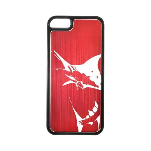 Apple iPhone 5/5S Hard Back Cover w/ Red Aluminum Back - Marlin 2.0