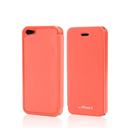 Orange Exclusive CellLine Diary Flip Cover Hard Case w/ ID Slot & Satin Cover for Apple iPhone 5/5S