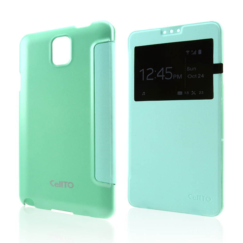 Mint CellLine Windowed Flip Cover w/ Free Screen Protector for Samsung Galaxy Note 3