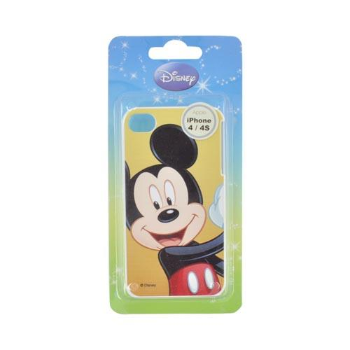 Original Disney AT&T/ Verizon Apple iPhone 4, iPhone 4S Hard Case - Mickey Mouse on Yellow