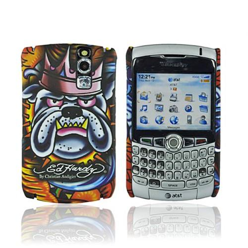 Original Ed Hardy Blackberry Curve 8300, 8310, 8320, 8330 Tattoo Faceplate Back Cover Case - King Bulldog Design
