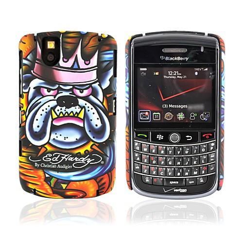 Original Ed Hardy Blackberry Tour 9630 Tattoo Faceplate Back Cover Case - King Bulldog Design