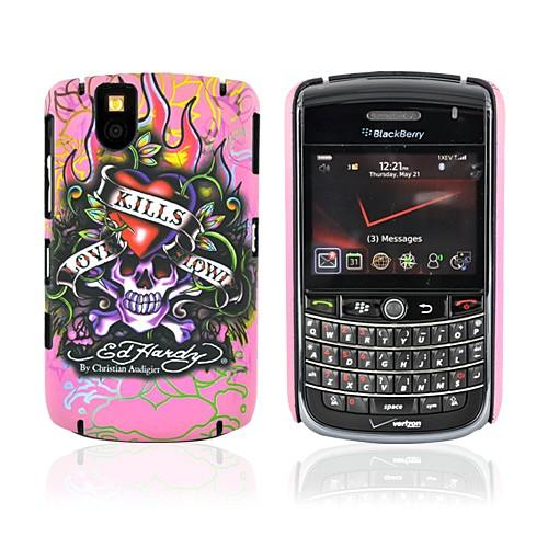 Original Ed Hardy Blackberry Tour 9630 Tattoo Faceplate Back Cover Case - Pink Love Kills Slowly Design