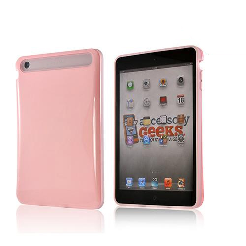 Baby Pink Hard Case on Pink Glow in the Dark Silicone Case for Apple iPad Mini/ iPad Mini 2