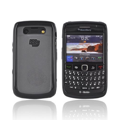 Blackberry Bold 9780, 9700 Hard Back w/ Gummy Silicone Border - Black/ Frost White