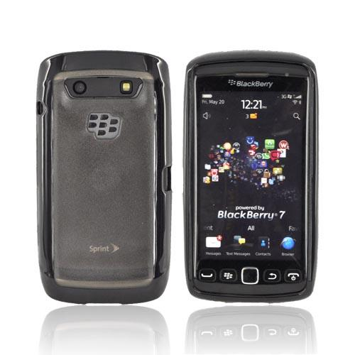 Blackberry Torch 9860, 9850 Hard Back w/ Gummy Silicone Border -Black/ Smoke