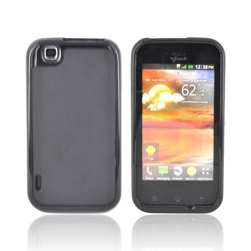 T-Mobile MyTouch Hard Back Case w/ Crystal Silicone Border - Black/ Black