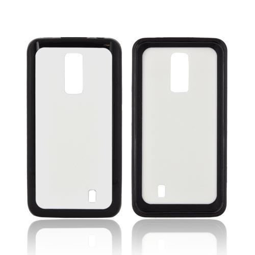 LG Spectrum Hard Back w/ Gummy Silicone Border - White/ Black