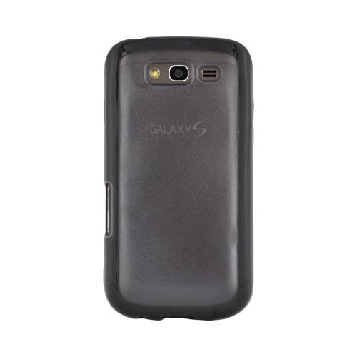 Samsung Galaxy S Blaze 4G Hard Back Case w/ Gummy Crystal Silicone Lining - Black/ Smoke