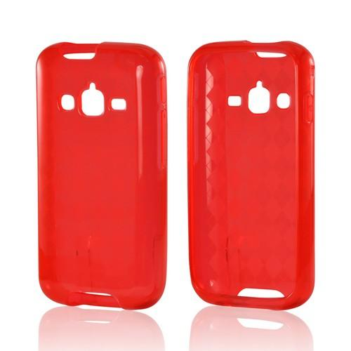 Argyle Red Crystal Silicone Case for Samsung Galaxy Rugby Pro