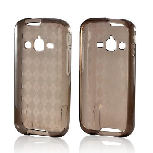 Argyle Smoke Crystal Silicone Case for Samsung Galaxy Rugby Pro