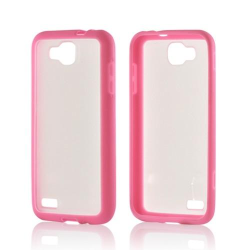 Baby Pink/ Frost White Hard Back w/ Crystal Silicone Border for Samsung ATIV S T899