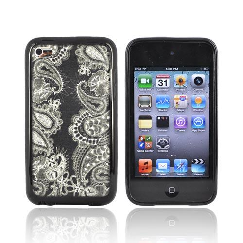 Original Hannah Davies Apple iPod Touch 4 Hard Back w/ Gummy Silicone Border Case - Dream World 2