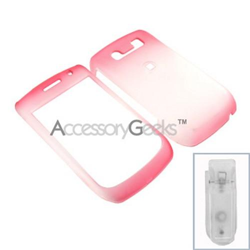 Blackberry Curve 8900 Icy Hard Case - Red/Clear
