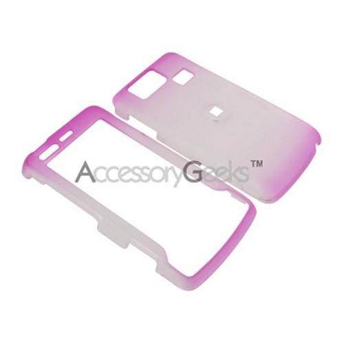 LG Versa Icy Hard Case - Hot Pink/Clear