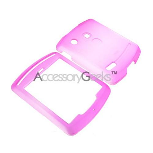 Motorola Hint Icy Hard Case - Hot Pink/Clear