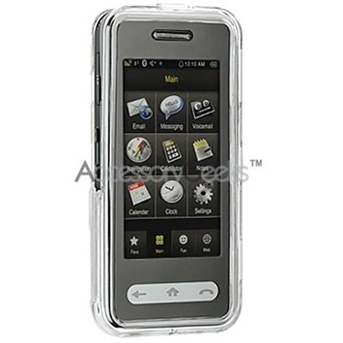 Samsung Instinct Integrated Hard Case w/ Touch Screen Lens - Transparent Clear