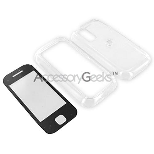 Premium Samsung Glyde Integrated Hard Case w/ Touch Screen Lens - Transparent Clear