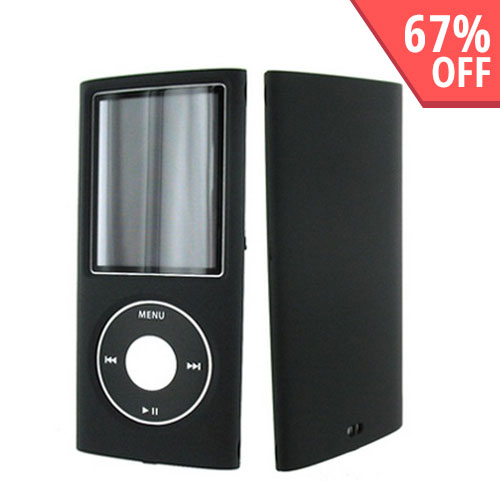 Apple iPod Nano 4 Leather Mold Hard Case - Black