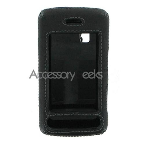 LG Vu Leather Molded Hard Case - Black