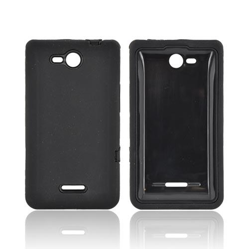 LG Lucid 4G Silicone Over Hard Case - Black
