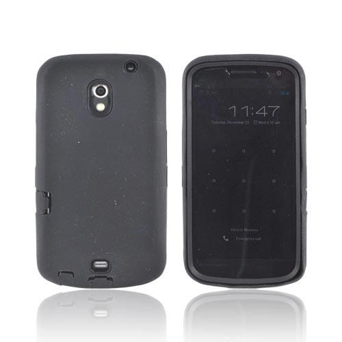 Samsung Galaxy Nexus Silicone Over Hard Case - Black