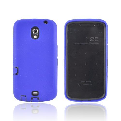 Samsung Galaxy Nexus Silicone Over Hard Case - Blue/ Black