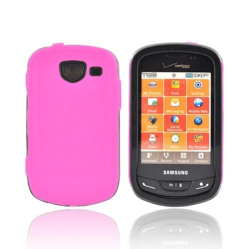 Samsung Brightside Silicone Over Hard Case - Pink/ Black