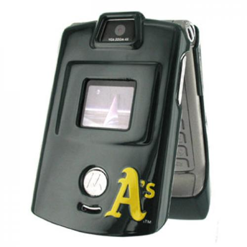 NCAA Licensed Motorola V3 MLB Oakland Athletics Protective Case