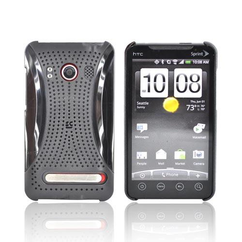 Premium HTC EVO 4G Hard Back Cover Case - Xmatrix Black