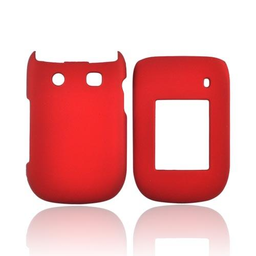 Blackberry Style 9670 Rubberized Hard Case - Red