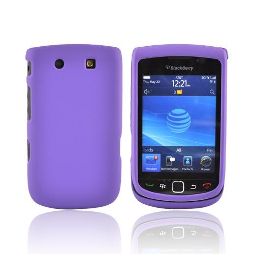 Luxmo Blackberry Torch 9800 Rubberized Hard Case - Purple