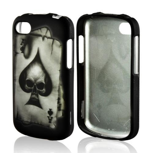 Ace Spade Skull on Black Rubberized Hard Case for Blackberry Q10