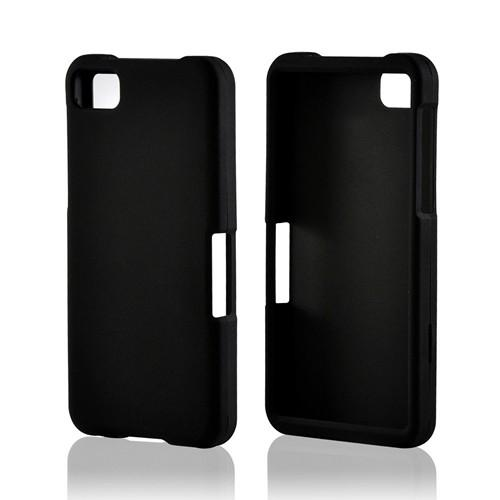 Black Rubberized Hard Case for BlackBerry Z10