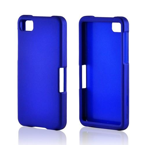 Blue Rubberized Hard Case for BlackBerry Z10